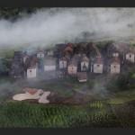 Madagascar : village merina sur les hauts-plateaux