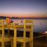 coucher de soleil à Ifaty du restaurant